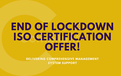 Compliant's end of lockdown ISO Certification offer