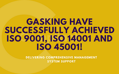 GasKing have successfully achieved ISO 9001, ISO 14001 and ISO 45001.